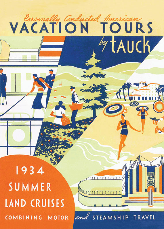 Tauck's 1934 brochure on summer land cruises.