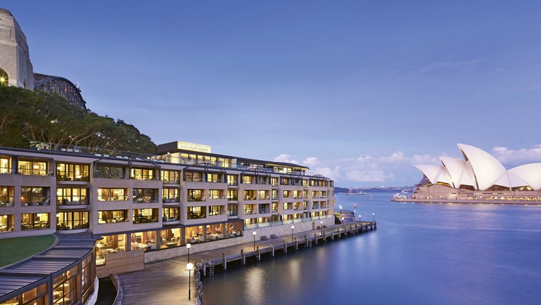 The Park Hyatt Sydney sits across Circular Quay from the Opera House.