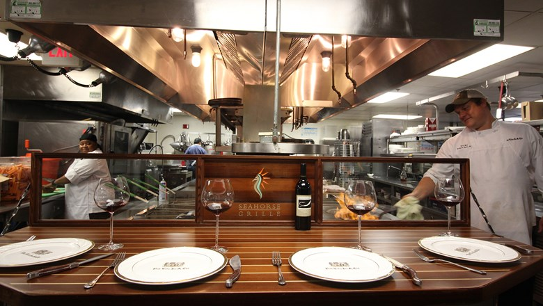 The Chef's Table at Seahorse Grille at the Ponte Vedra Inn & Club.