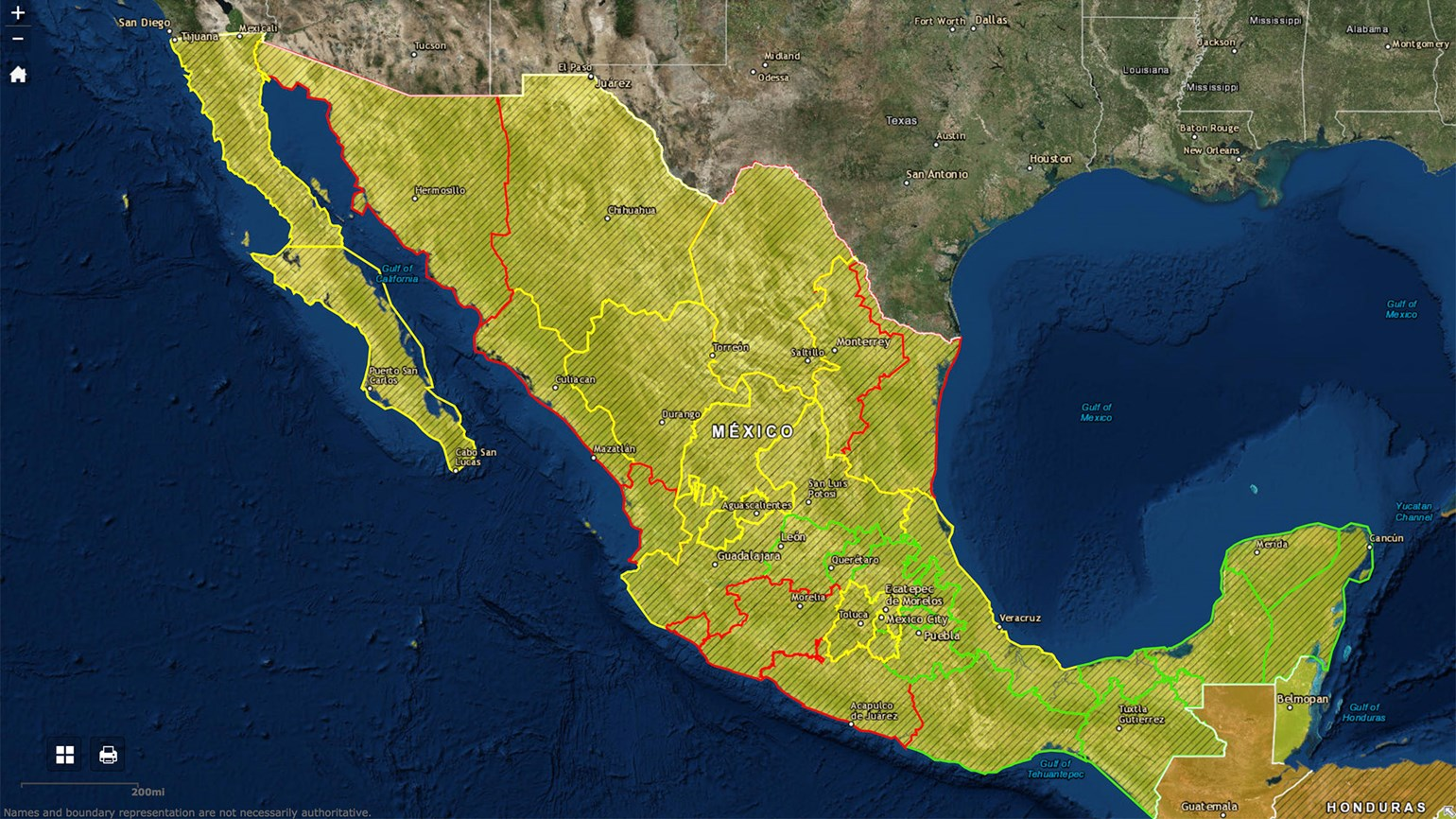 Mexico new travel advisory system an improvement but could be the state department has created a color coded map of mexico that breaks down each state with warnings specific to those areas publicscrutiny Choice Image
