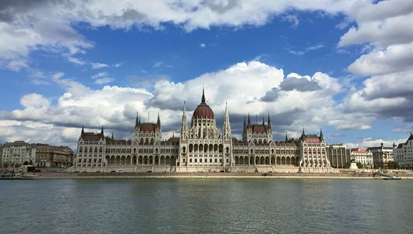 The striking Hungarian Parliament Building is one of several attractions on the Pest side of Budapest.