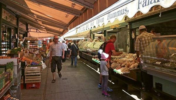 Vienna's Naschmarkt, a collection of food stalls and fast-casual eateries, is worth veering off course for.