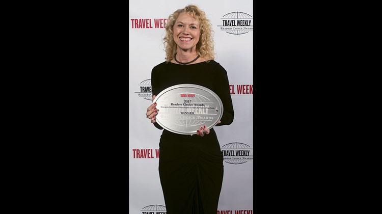 Kelly Messina of the Las Vegas Convention and Visitors Authority. Las Vegas received its 13th Readers Choice Award in the category of U.S. City.