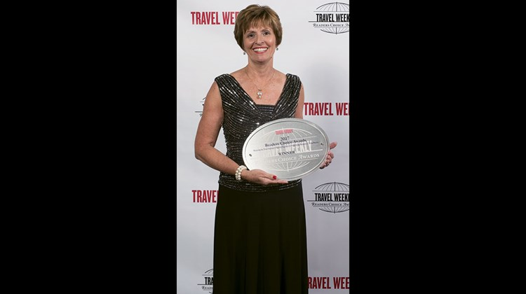Barbara Windish of Apple Vacations, which won for Caribbean tour operator.