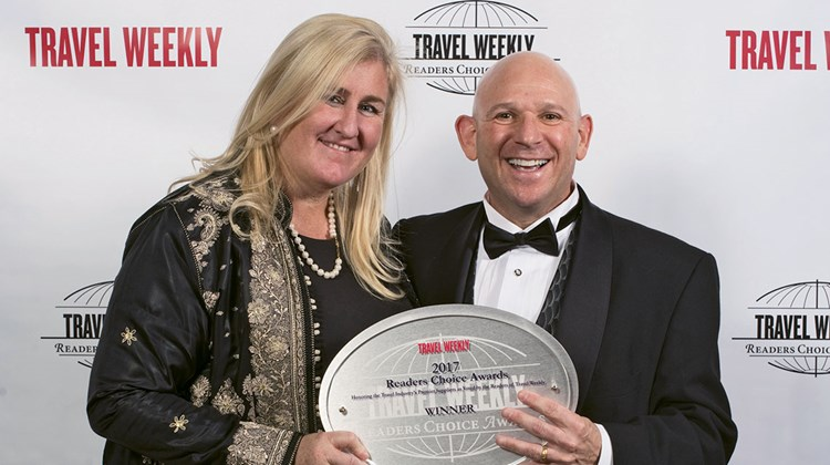 Marett Taylor and Keith Baron of Abercrombie & Kent, winner of Readers Choice Awards for Africa and Luxury.