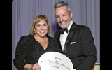 Alexis Romer of Marriott International Luxury Brands with Travel Weekly's Bruce Shulman. Marriott's Ritz-Carlton brand received two Readers Choice Awards: The Ritz-Carlton, Half Moon Bay took the award for Resort Worldwide, and the brand topped the Luxury Hotel category.