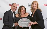Christopher Cestari, Carmen Roig and Susan Robison of Crystal Cruises, which readers picked as the top luxury line.