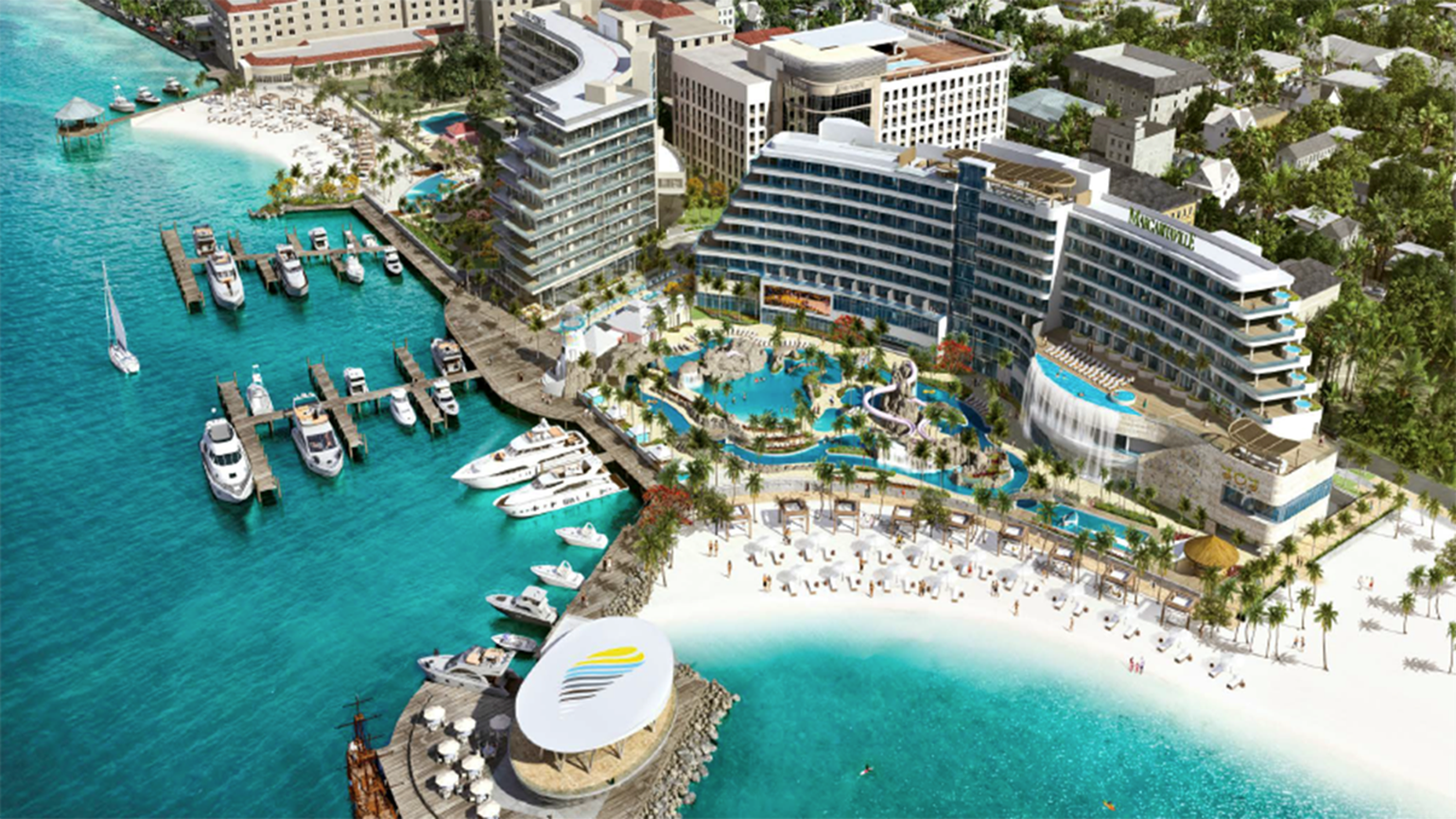 Margaritaville resort under construction in Nassau