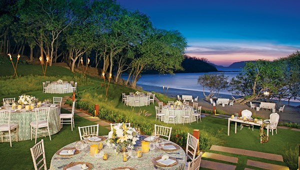 A wedding reception prepared at the Secrets Papagayo Costa Rica.