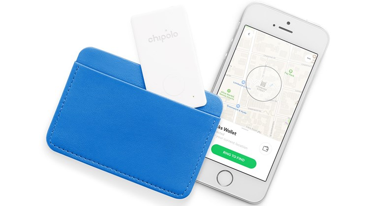 Described by Chipolo as ''the thinnest tracker on the market,'' this slim wallet finder (0.08-inch) is smaller than a business card or credit card and will easily fit into a card slot in your wallet or passport holder. Connected to a smartphone app via a Bluetooth connection, it will alert you to its location from up to 200 feet away with a 95 decibel melody. If you misplace your wallet while out of Bluetooth range, the app enables the user to pinpoint its last location on a map or, if necessary, allows you to mark the wallet as stolen.