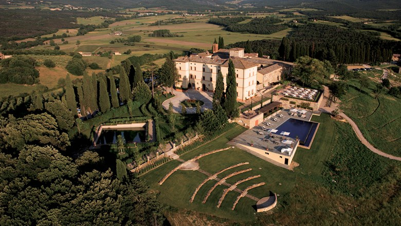 The Belmond Castello di Casole in Tuscany.