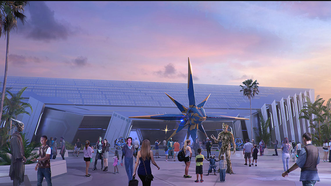 "A ""Guardians of the Galaxy"" enclosed roller coaster is coming to Future World at Epcot."