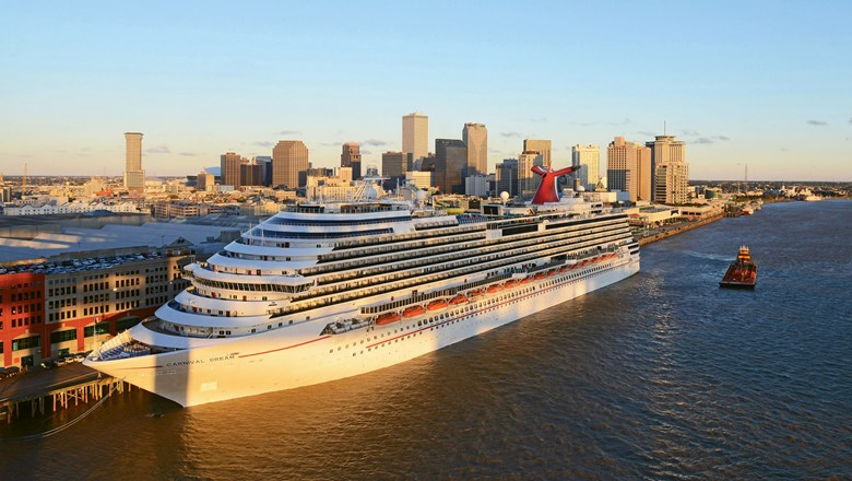 The Carnival Dream docked in New Orleans, which is celebrating its tricentennial this year.