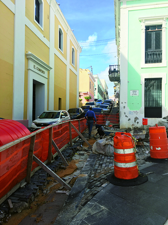 A street being repaired in San Juan. Photo Credit: TW photo by Johanna Jainchill