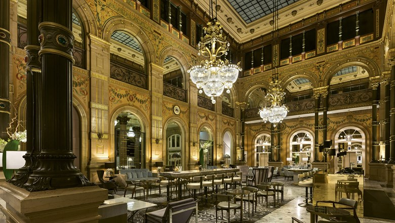 The hotel's opulent Grand Salon has original touches dating to the late 19th century.
