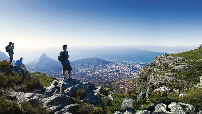 The view of Cape Town from Table Mountain.