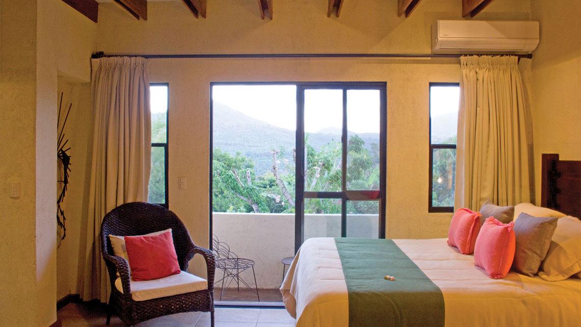 El hotel Misión de Ángeles en las montañas de Ahuachapan.