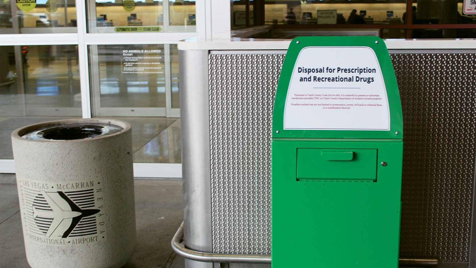 Marijuana 'amnesty boxes' installed at Las Vegas airport