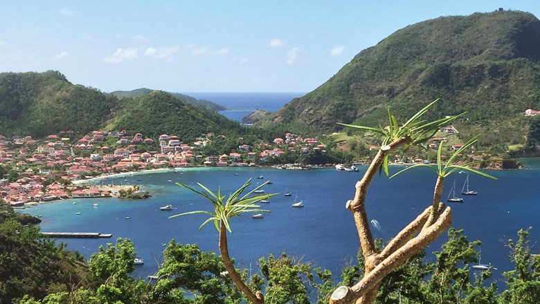 The bay at Terre-de-Haut, one of two inhabited islands that form Les Saintes.