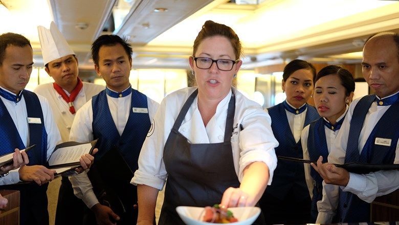 Annie Pettry of Decca in Louisville, Ky., was a James Beard Foundation guest chef on a Mediterranean cruise in 2017.