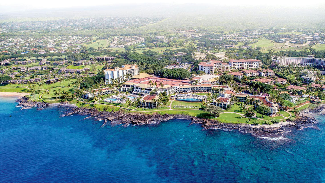 The Wailea Beach Resort has upgraded its pools, adding four waterslides.