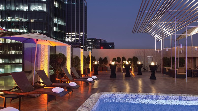 The rooftop pool and lounge at the Galeria Plaza Reforma, which were added in 2016.