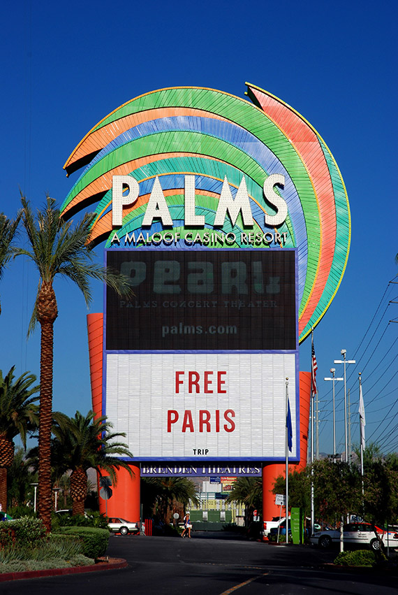 The Palms marquee came down last month to make way for a digital version as part of $485 million renovation of the resort.