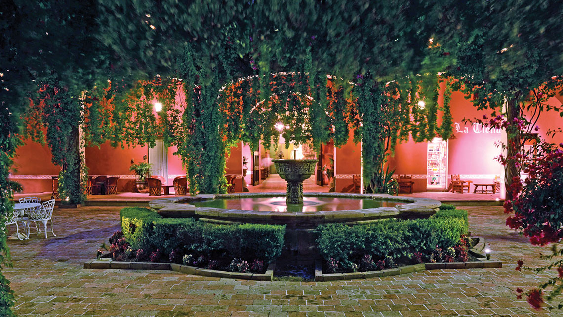 The patio at the Hacienda Jurica in the colonial city of Queretaro. Brisas has added a wing with 58 rooms and a stand-alone convention center.