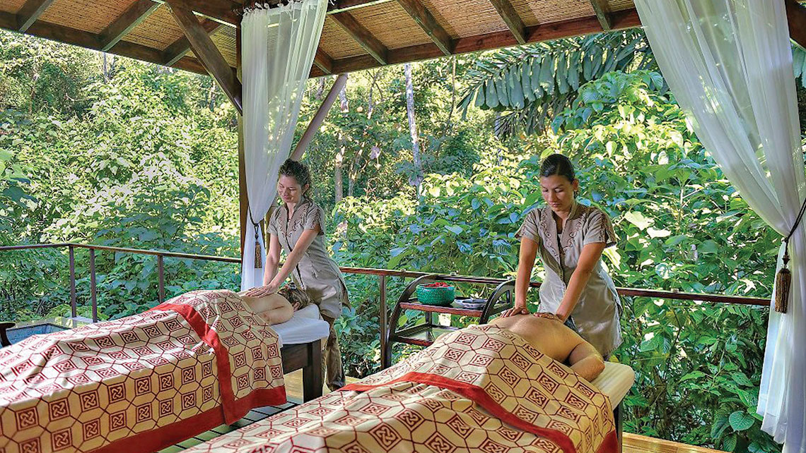 The two-hour Nature Escape for couples includes hot stone massages and a whirlpool soak.
