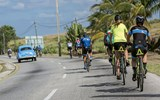 Riders on the final stretch of the Backroads bike tour on the outskirts of Havana. Itineraries are either five or six nights, depending on departure date.