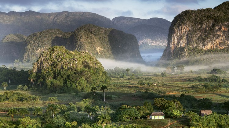 A dramatic view from the Hotel Los Jazmines in Vinales.