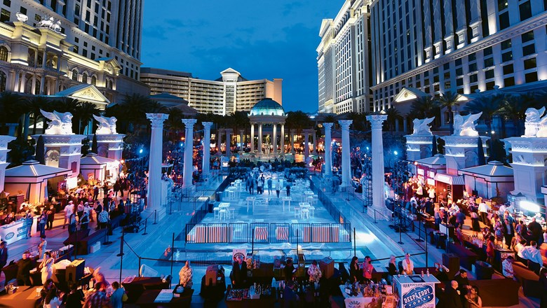 The Uncork'd Grand Tasting at the Garden of the Gods pool complex at Caesars Palace.