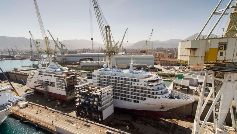 Silversea Cruises' Silver Spirit was split in half this year in a $70 million overhaul that added a section to the ship.