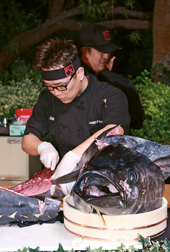 Naked Fish's Sushi at UNLVino, which this year will feature small plates from 50 restaurants.