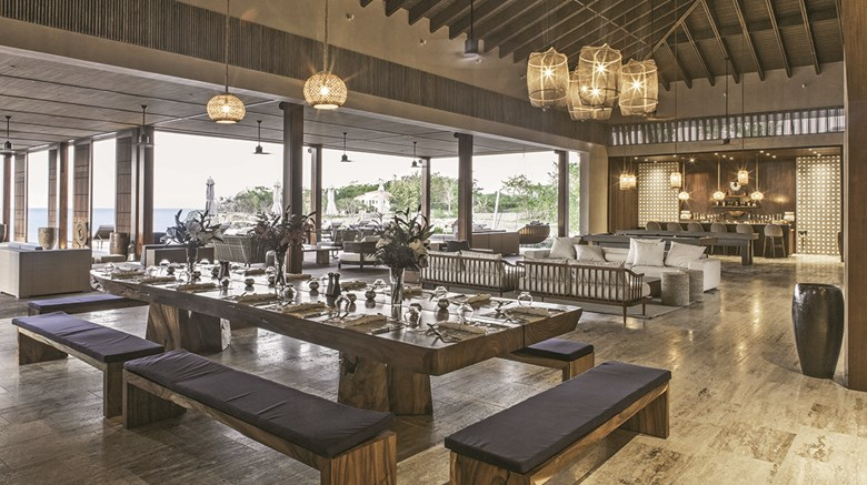 One of two common dining, bar and pool areas at the Ani Villas in the Dominican Republic, which opened in December and is the company's fourth private resort.