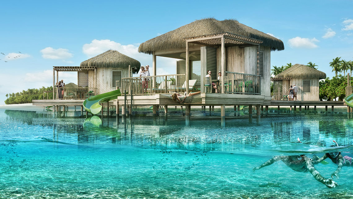 L'esclusivo Coco Beach Club ospiterà cabanas in acqua.