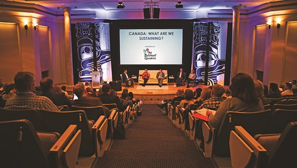 """The """"Canada: What Are We Sustaining"""" panel at the conference."""