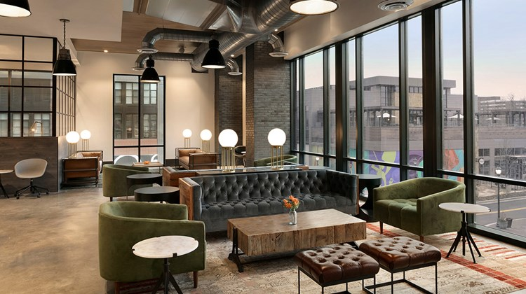 The Canopy by Hilton Washington D.C. Bethesda North, which opened in Bethesda, Md.'s Pike & Rose community in March 2018, exudes a relaxed feel in its public spaces.