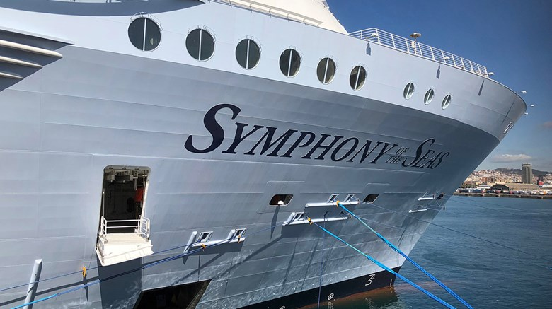 The newest Royal Caribbean International ship, the Symphony of the Seas, is set to debut in Barcelona. Cruise editor Tom Stieghorst stepped onboard to chronicle the ship's look and feel.