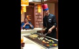 New to the Carnival fleet on the Carnival Horizon is the Bonsai Teppanyaki restaurant, featuring theatrical chefs manning griddles surrounded by customers.