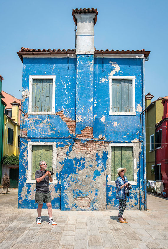 Uniworld river cruise passengers hone their photography skills in Burano, Italy. The river cruise line has nine departures this year on which there will be a professional artist leading courses.