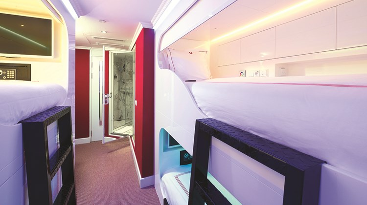 Two stateroooms onboard feature bunk beds that allow for triple occupancy, something rarely seen on river cruises.