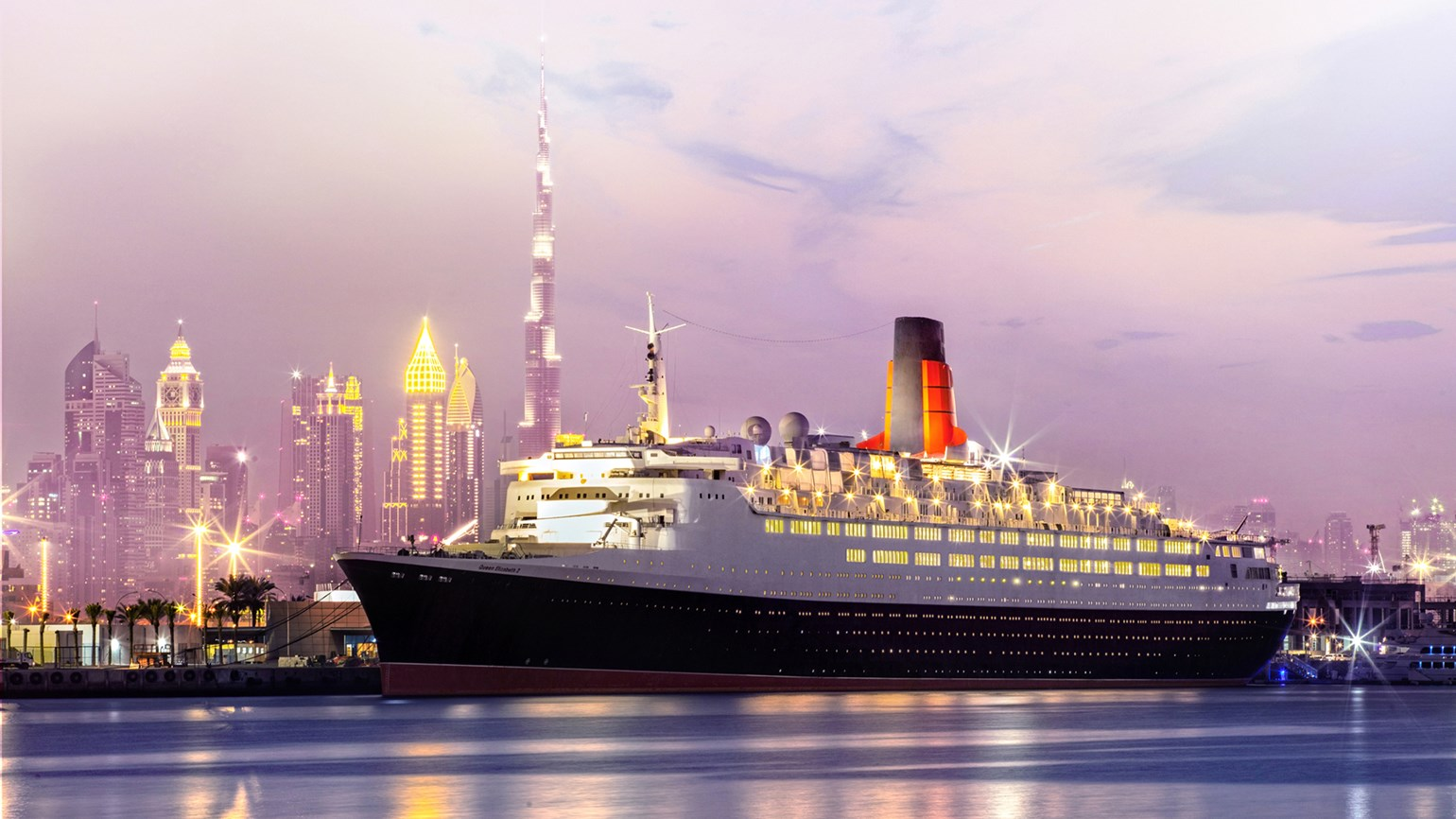 Retired QE2 opens as floating hotel in Dubai