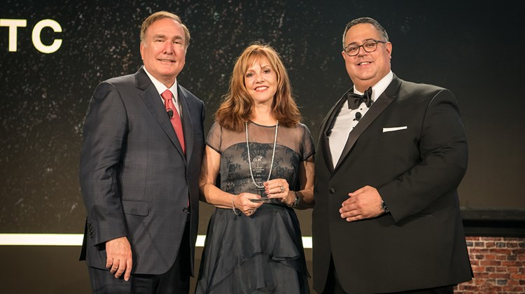 CLIA's annual Cruise360 conference wrapped up last week in Fort Lauderdale. Vicki Freed, Royal Caribbean International's senior vice president of sales and trade relations and service, was given a lifetime achievement award during CLIA's annual Hall of Fame dinner. With Royal Caribbean Cruises Ltd. CEO Richard Fain, left, and CLIA's Charles Sylvia.