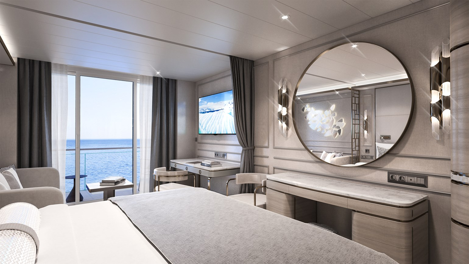 Crystal reveals details about accommodations on upcoming yacht