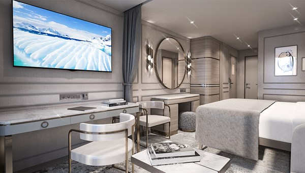 There will be 90 Deluxe Suites on the polar-class expedition yacht.