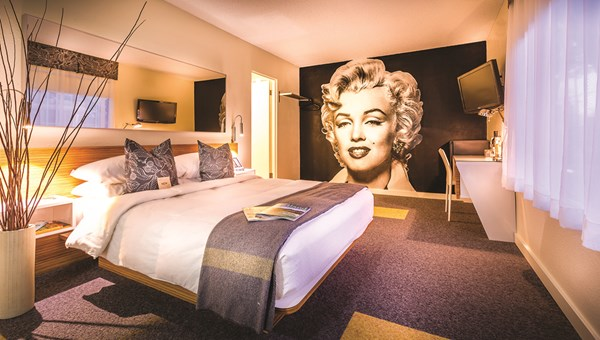 A guestroom at the Jupiter.