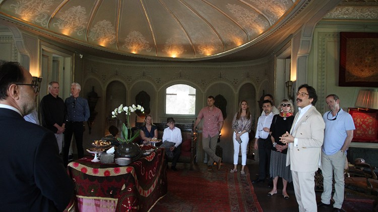 During a visit to Macar Feyzullah Pasha Kosku, a home dating to the 1860s, owner Serdar Gulgun tells agents about the years-long effort to restore the residence.