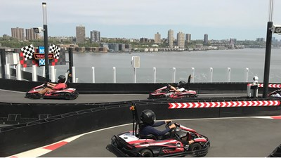 For $100, Norwegian Bliss guests get unlimited go-kart rides during cruise