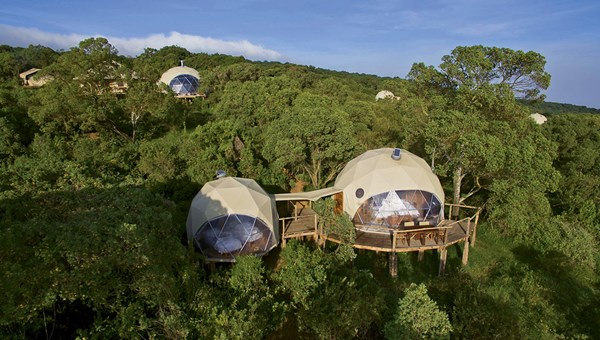 The Highlands' domes provide excellent views of the Serengeti in Tanzania's Ngorongoro Conservation Area.